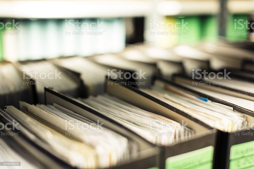 archived folders stock photo