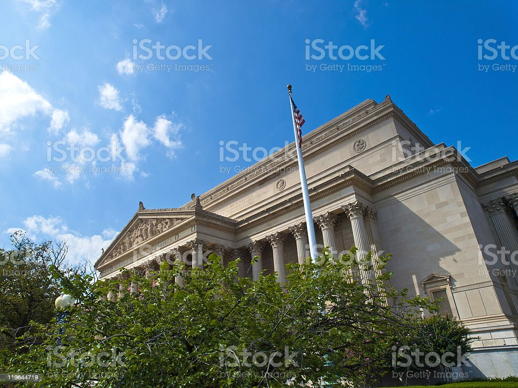 Archives of the USA building in Washington DC royalty-free stock photo
