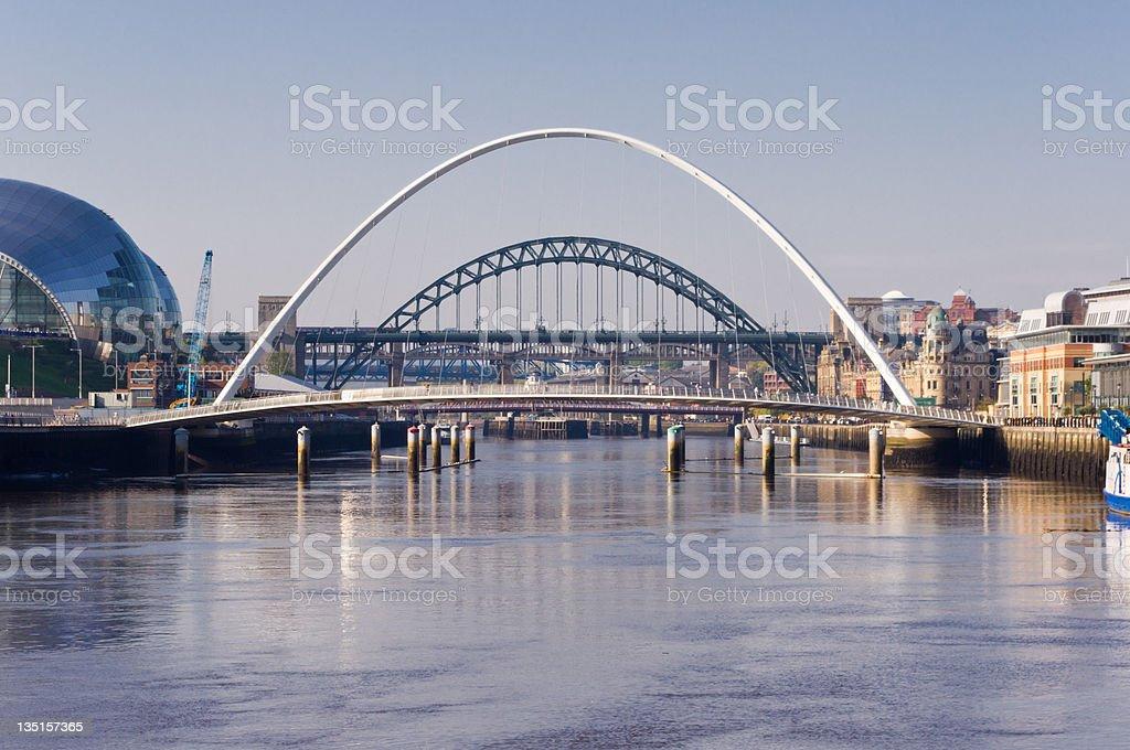 Arch's of the Tyne bridges stock photo
