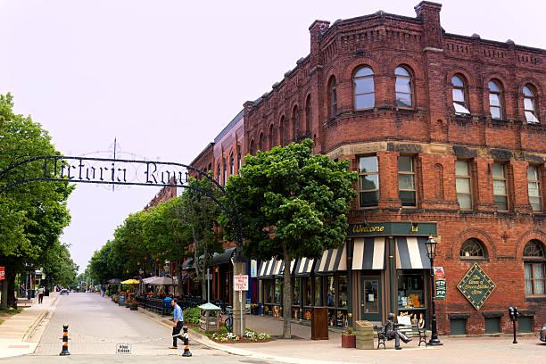 Torbogen-Eingang zum Victoria Row in Charlottetown in Kanada – Foto
