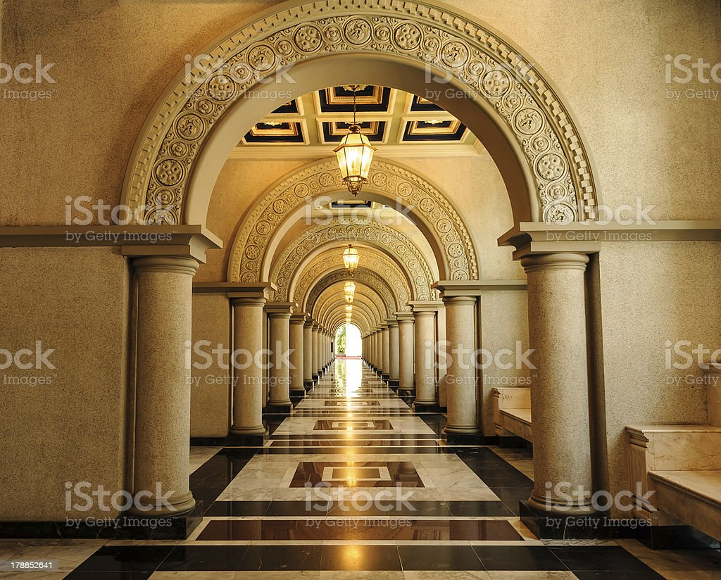 Archway in architecture building royalty-free stock photo