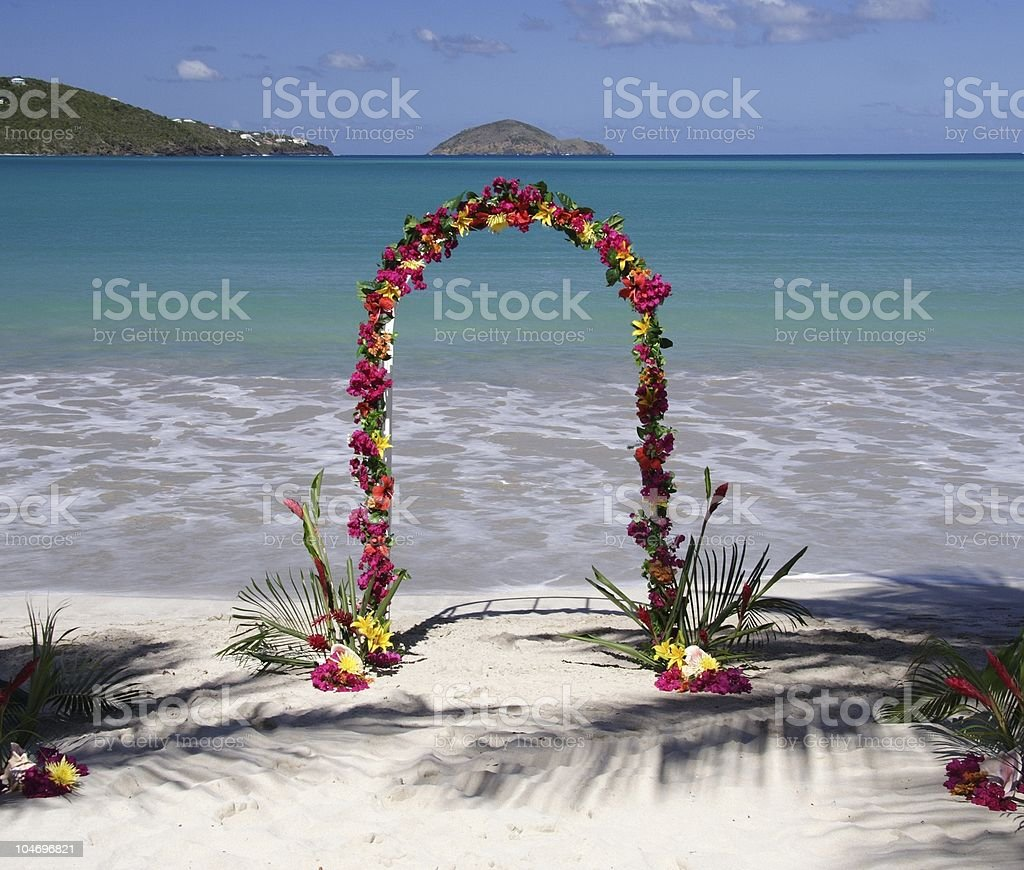 Archway in paradise royalty-free stock photo