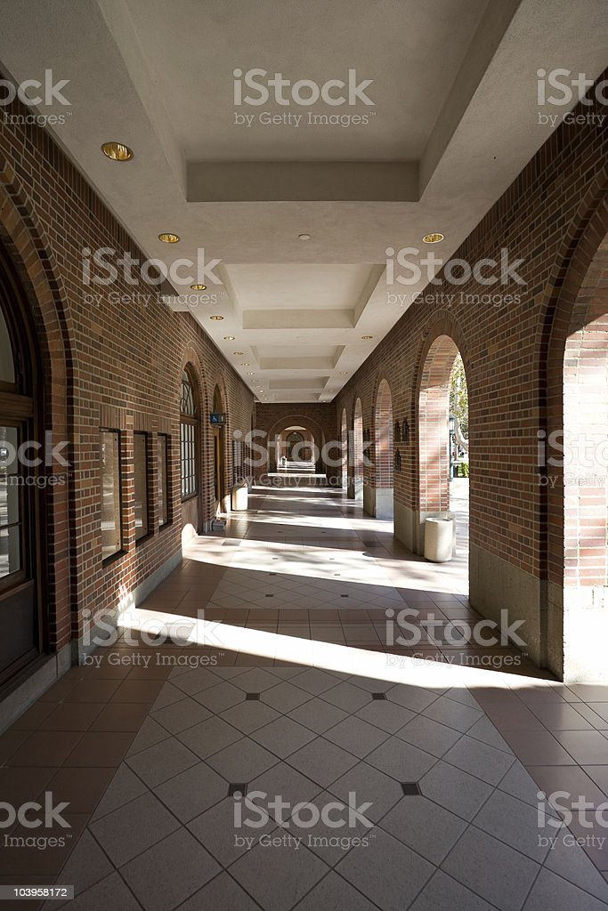 archway in sun royalty-free stock photo