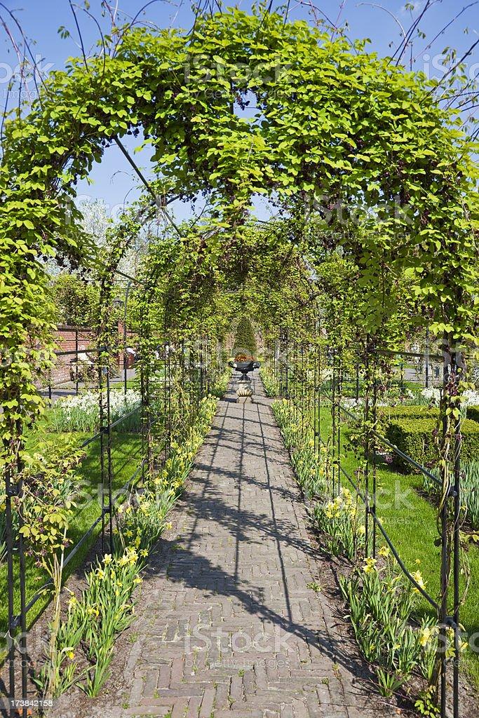 Archway in the garden XXXL stock photo