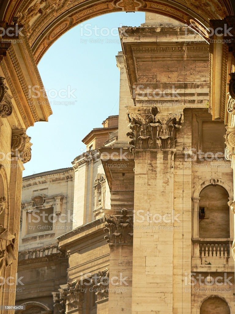 Archway into Vatican royalty-free stock photo