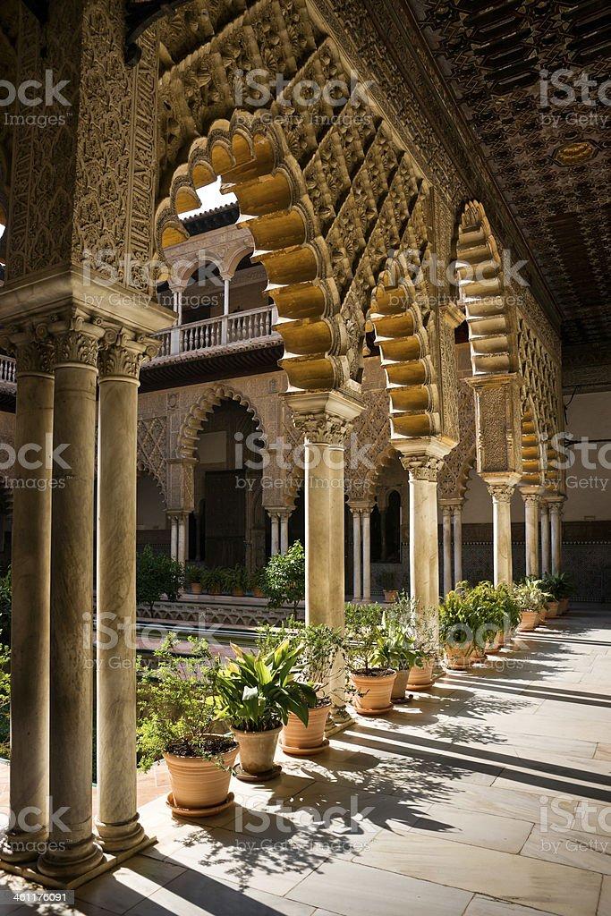 Archway of Patio de las Doncellas, Alce stock photo