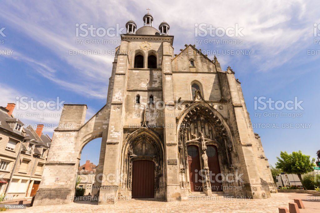 Arcis-sur-Aube, France stock photo