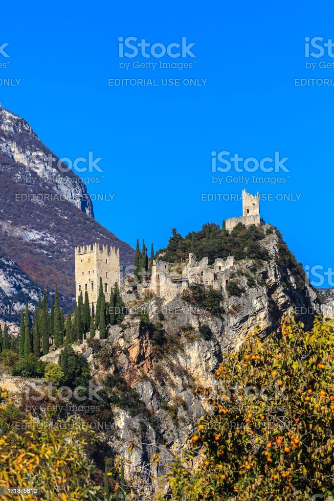 Arco Castle, Italy royalty-free stock photo