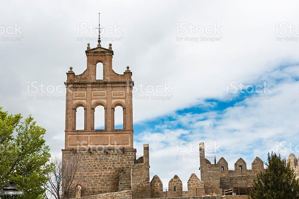 Arco del Carmen on the medieval Wall of Avila stock photo