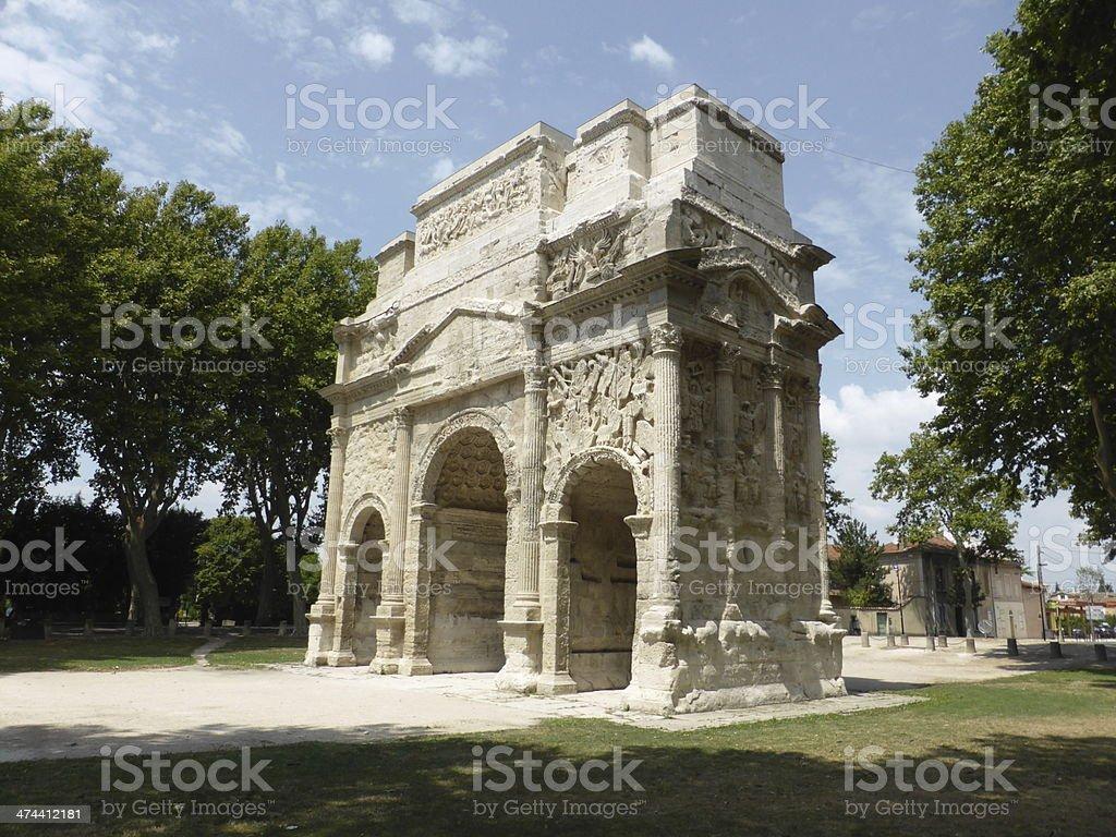 Arco del triunfo stock photo