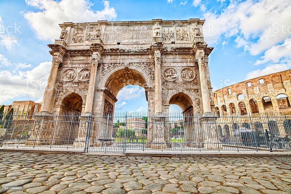 Arco di Costantino Roma - foto de acervo