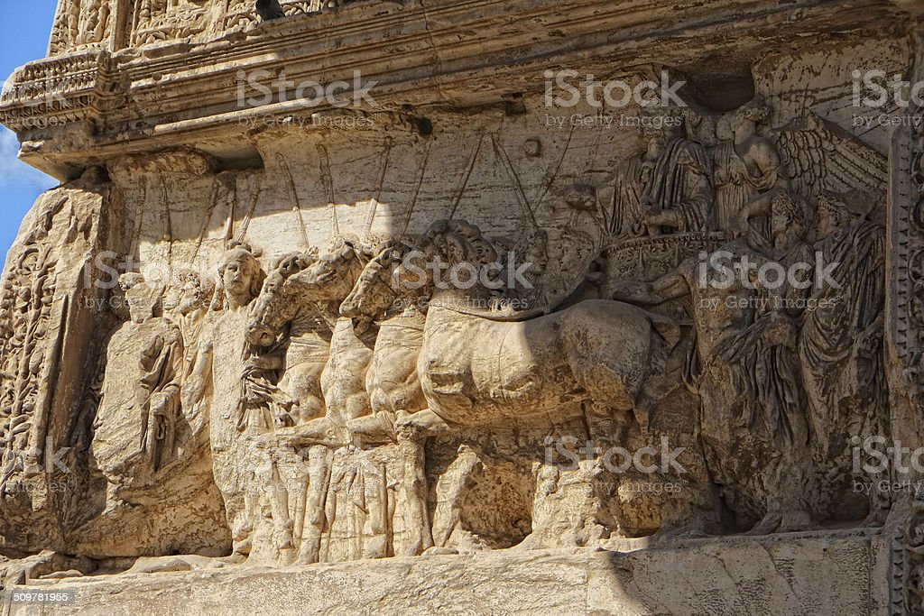 Arco Di Tito Artwork stock photo
