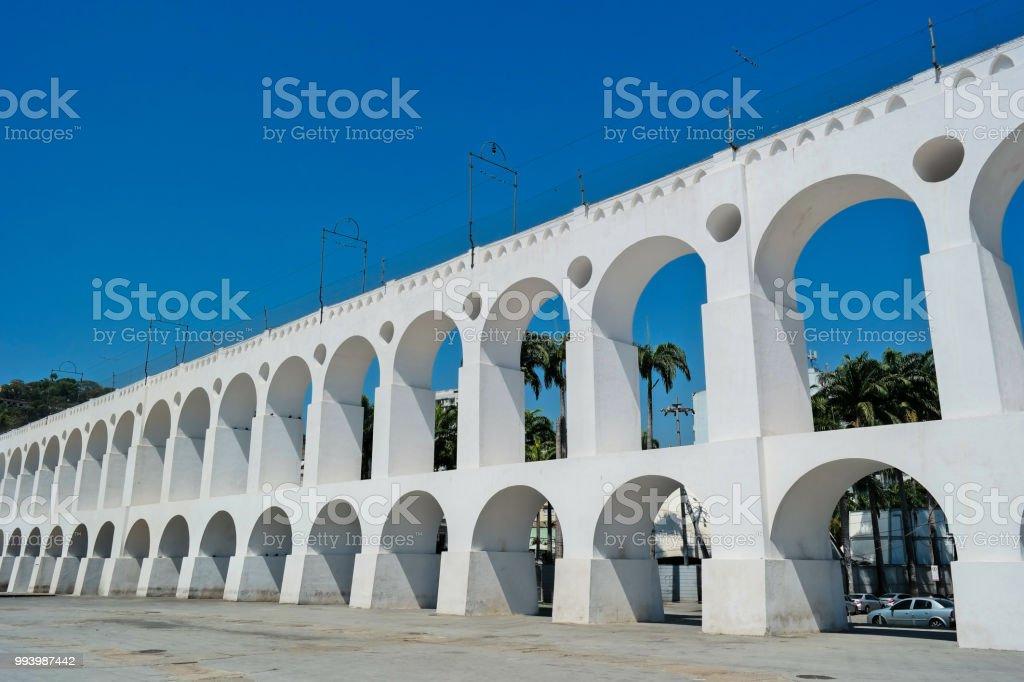 Arcos da Lapa (Lapa Arches - Rio de Janeiro) stock photo