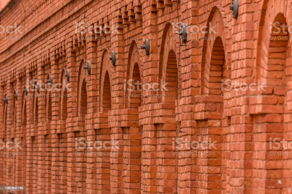 Arcs made with Red Brick in Lodz Manufaktura