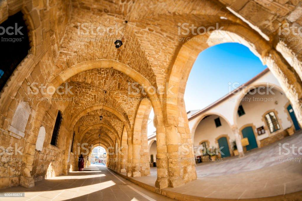 Arcs of Ayious Lazarus Church, Larnaca, Cyprus stock photo