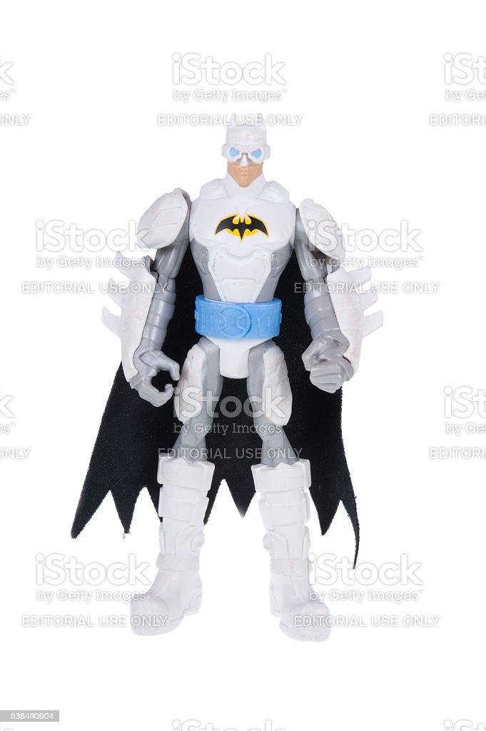 Arctic Batman Action Figure stock photo