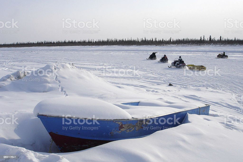 Arctic Blue Boat and Snowmobile Pack stock photo