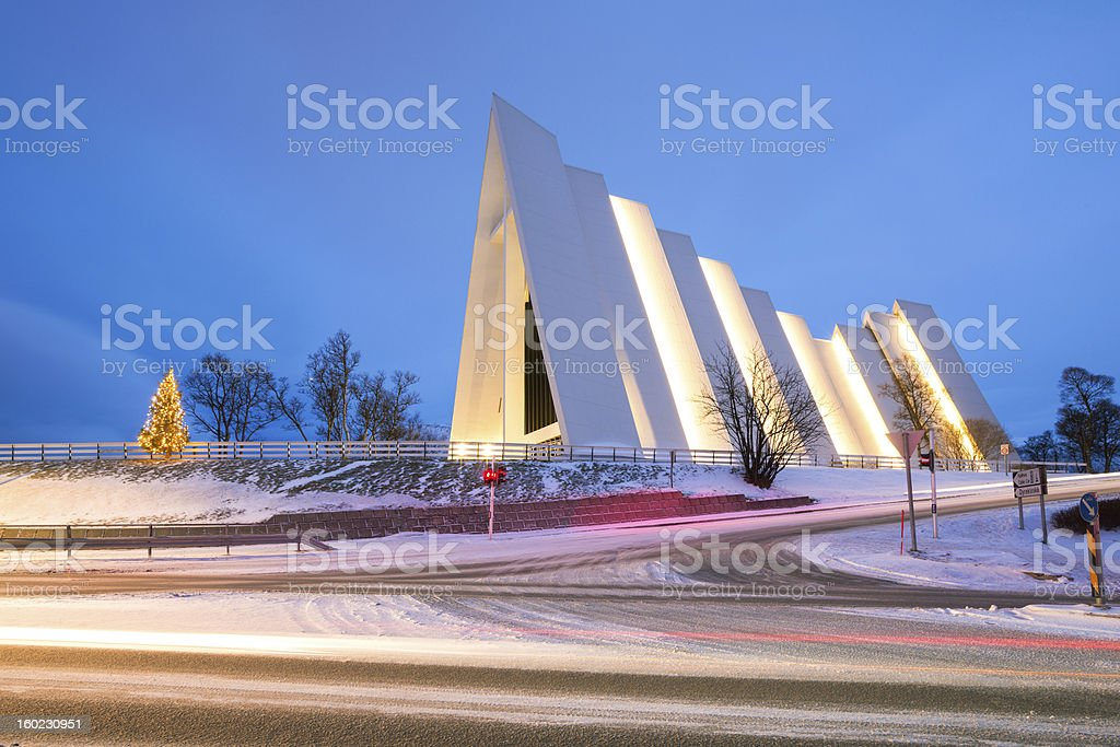 Arctic Cathedral Tromso Norway stock photo