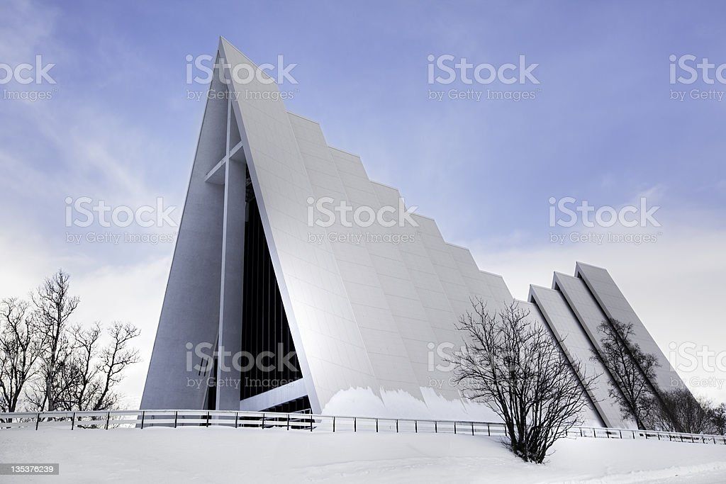 Arctic Cathedral, Tromso stock photo