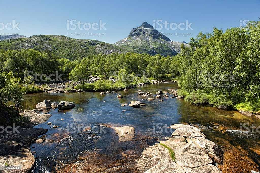 Arctic creek in northern Norway royalty-free stock photo