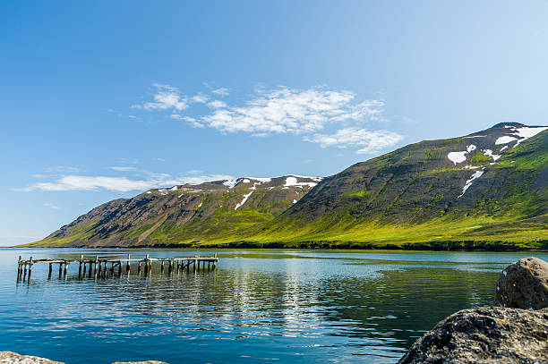 Arctic Fjord in Iceland stock photo