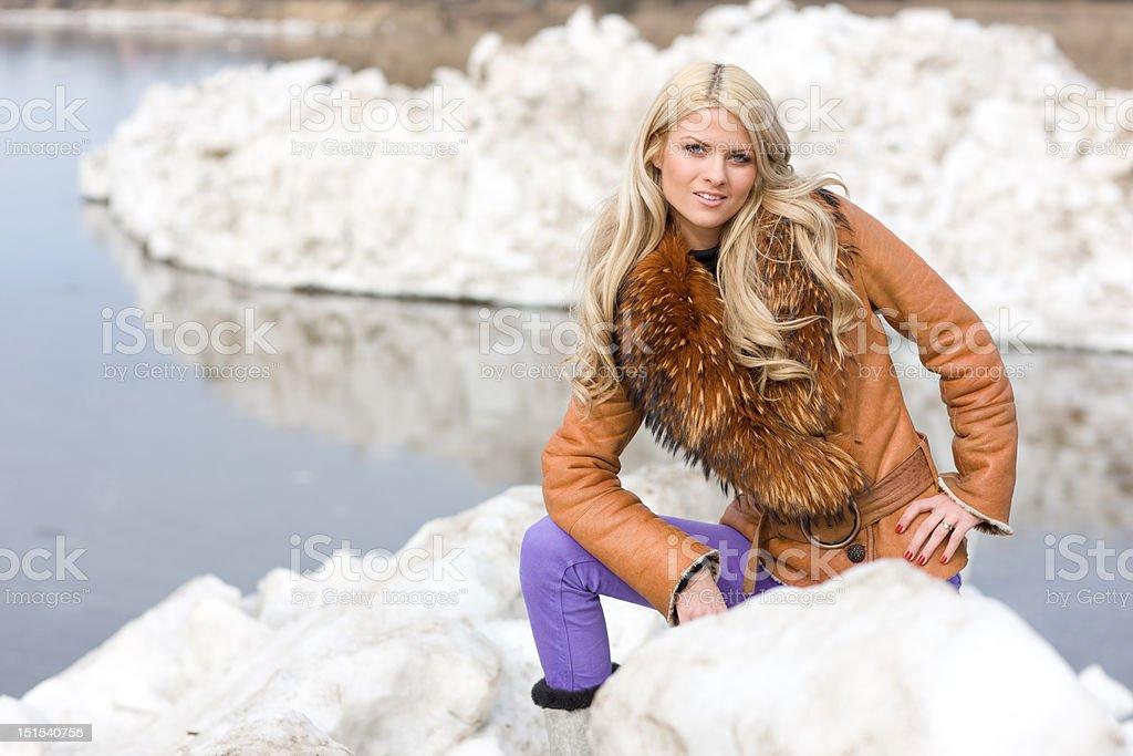 Arctic girl royalty-free stock photo