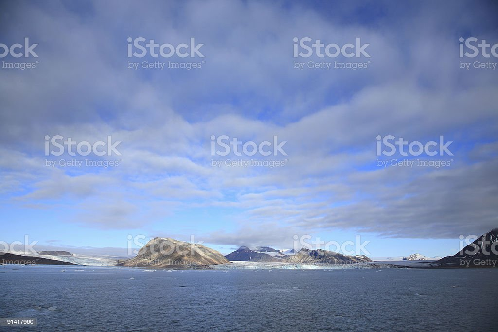 Arctic Glacier Landscape royalty-free stock photo