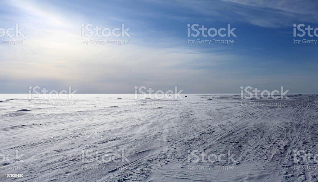 Arctic ice desert stock photo