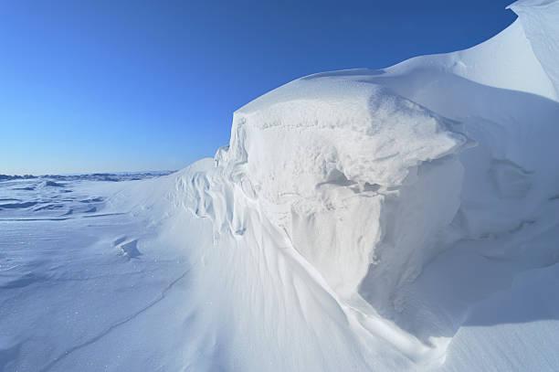 Arctic Ice on Baffin Island, Nunavut, Canada stock photo