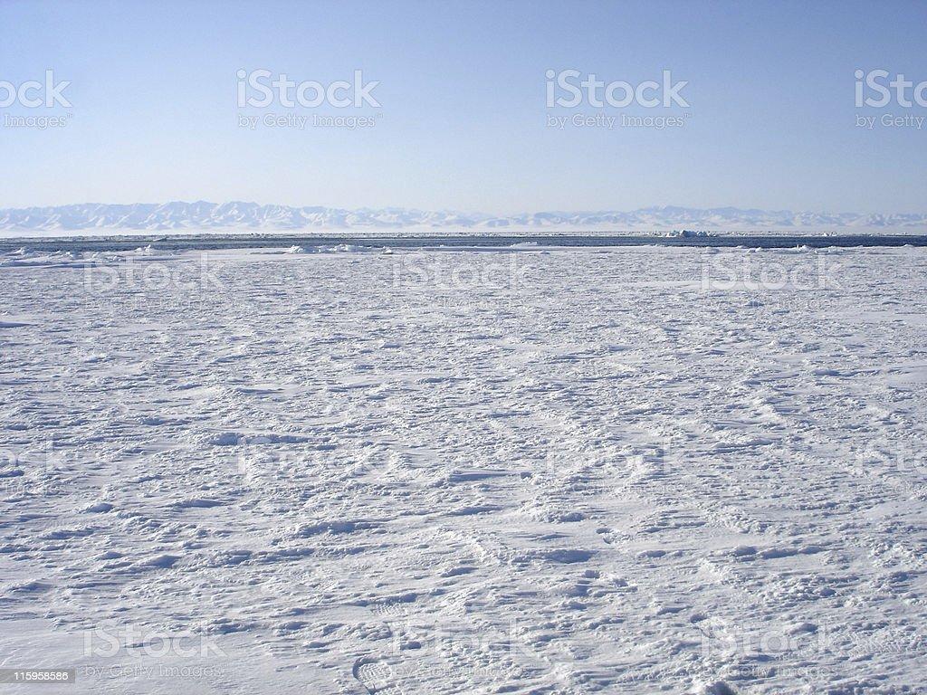 Arctic Ice Pack Vista royalty-free stock photo