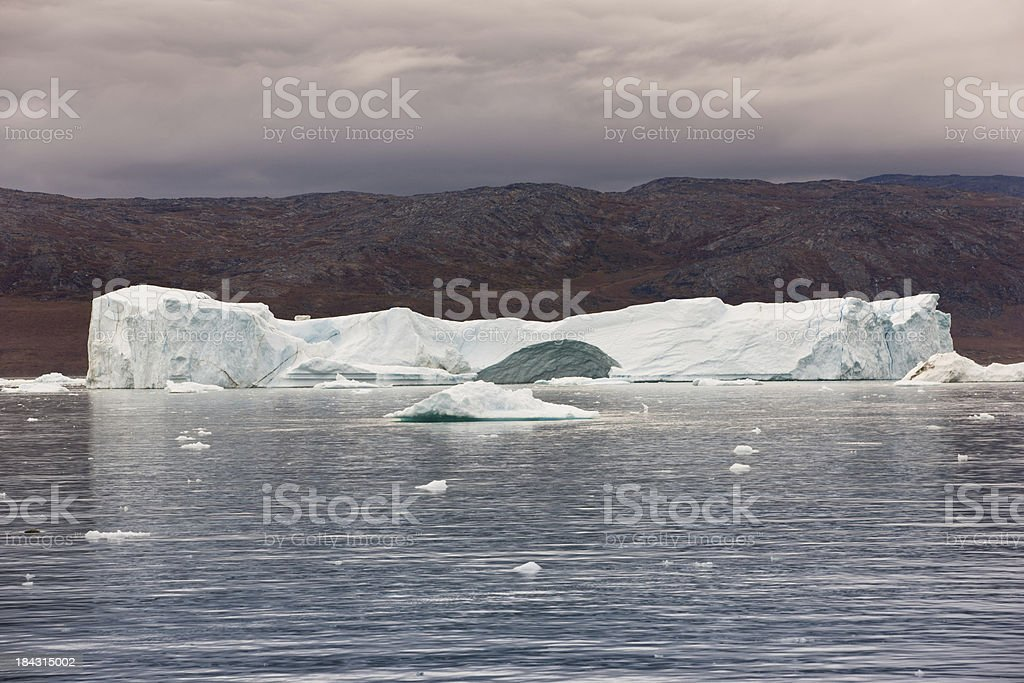 Arctic Iceberg Greenland Eqi Sermia Glacier stock photo