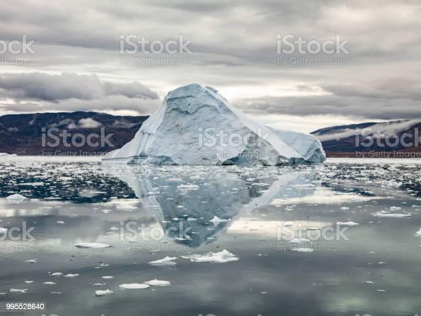 Arctic Iceberg Reflections Ilulissat Greenland Stock Photo - Download Image Now