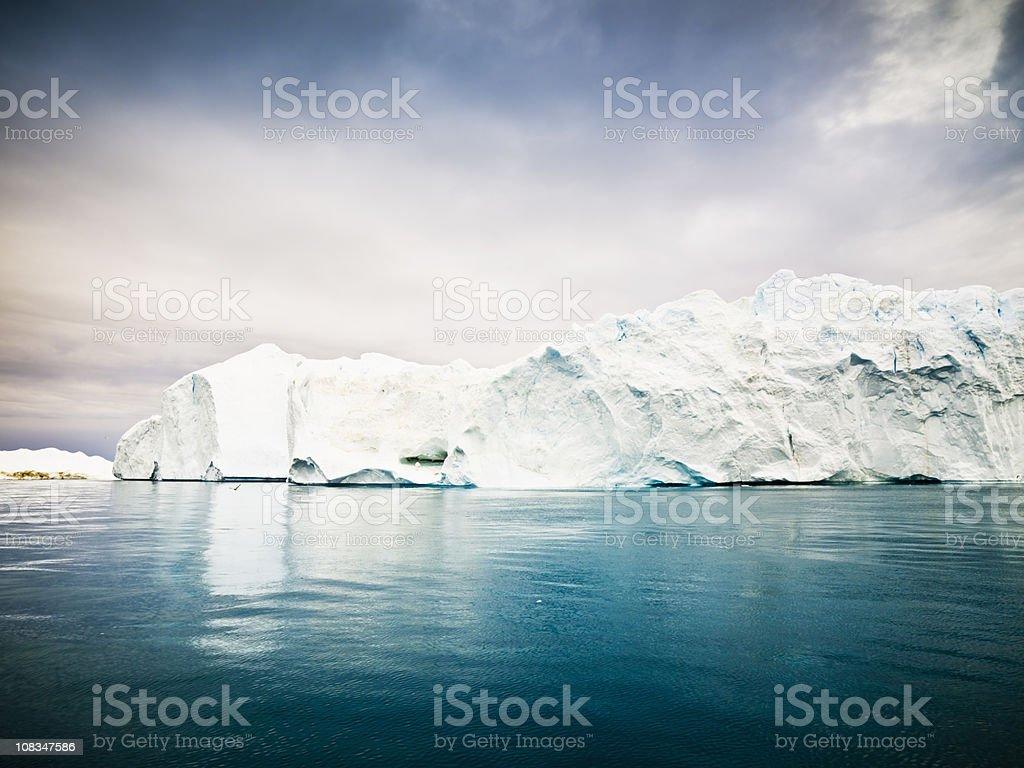 Arctic Icebergs Greenland Ice Fjord royalty-free stock photo