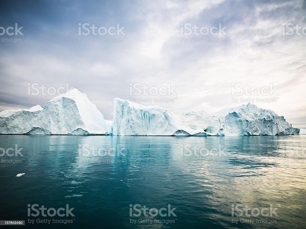 Arctic Icebergs Greenland North Pole stock photo