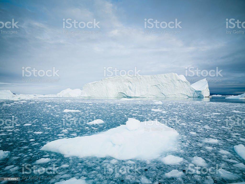 Arctic Icebergs Greenland royalty-free stock photo