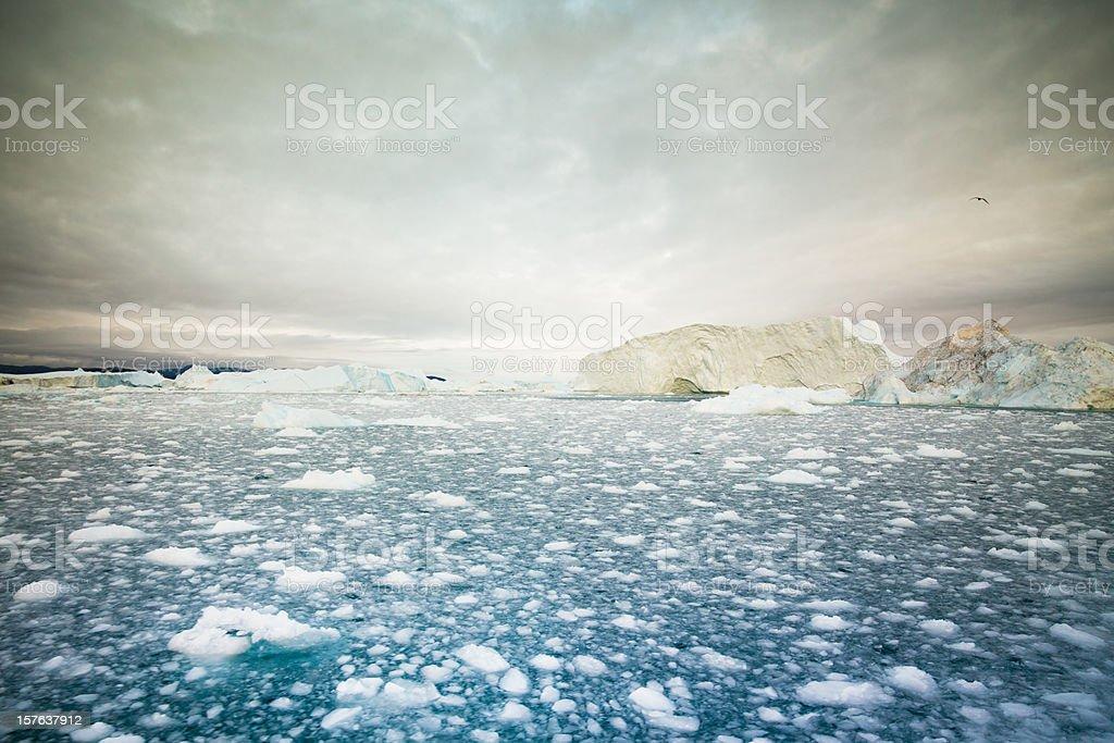 Arctic Icebergs Ilulissat Greenland stock photo