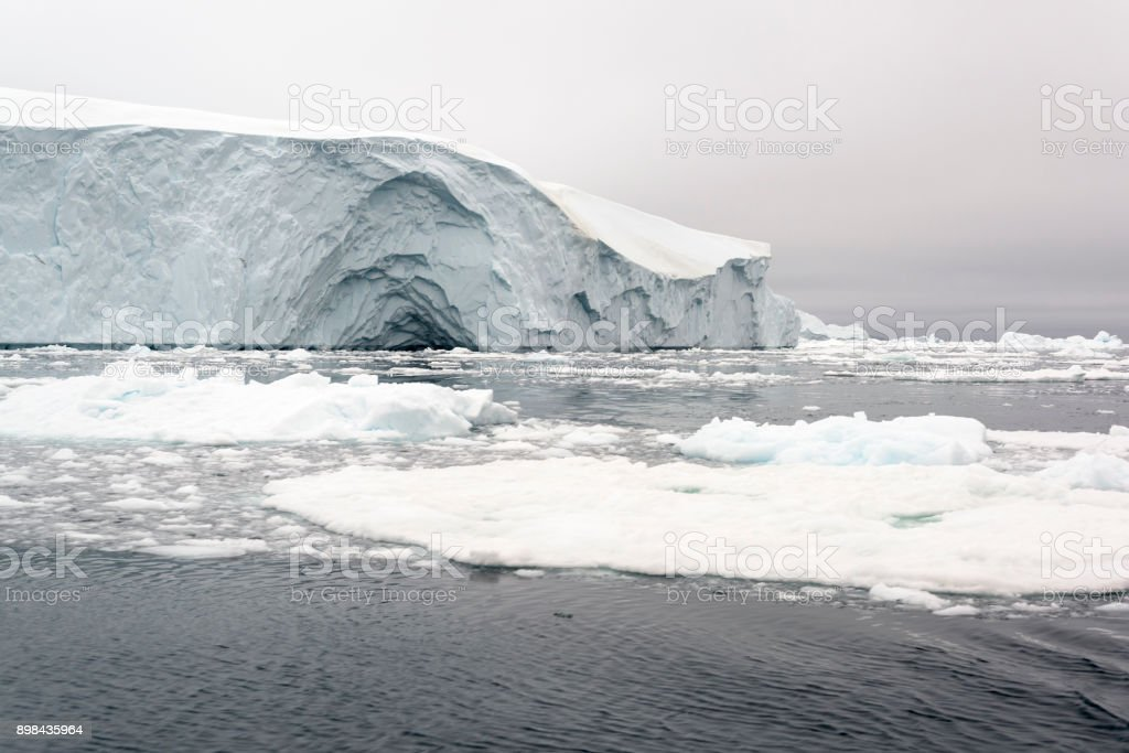 Arctic Icebergs on Arctic Ocean in Greenland. Climate change