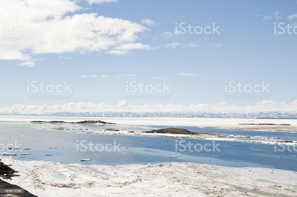 Arctic in Spring, Baffin Island. stock photo