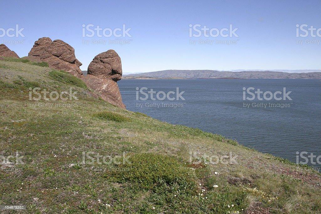 Arctic Islands. Bathurst Inlet, Nunavut, Canada stock photo