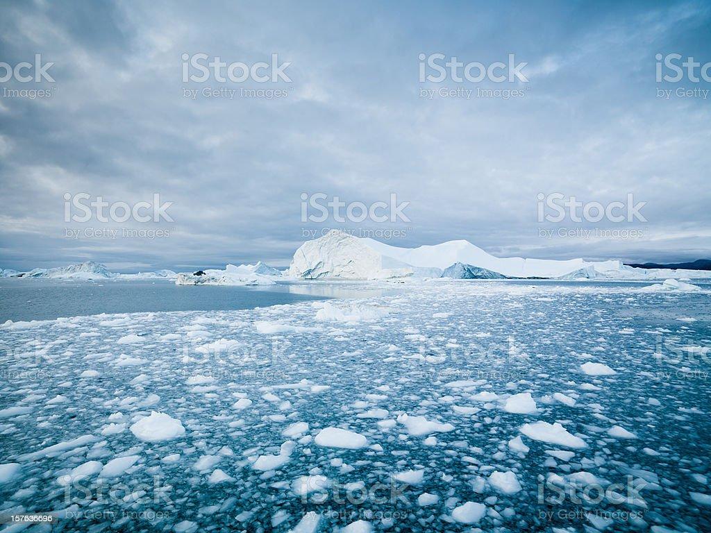 Arctic Landscape Greenland Icebergs XXXL  Arctic Stock Photo
