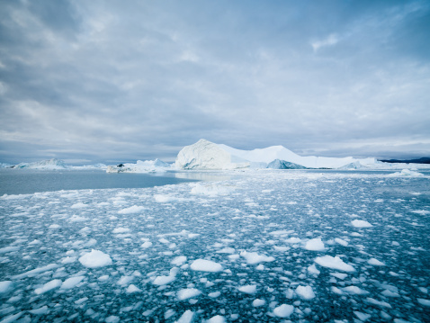 Arctic Landscape Greenland Icebergs Xxxl Stock Photo - Download Image Now