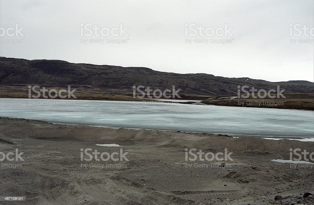Arctic landscape, Kangerlussuaq, Greenland royalty-free stock photo