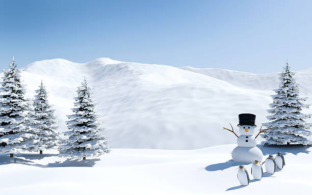 Arctic landscape snow field with snowman and penguins in christmas picture id621133524?b=1&k=6&m=621133524&s=612x612&w=0&h=hbgcb0m8rso9eks4mcasjkeafxecw3xewtcnusrfc24=
