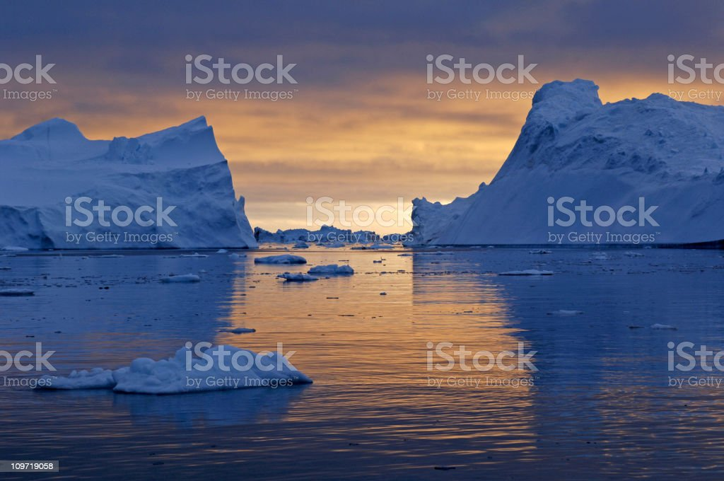 Arctic Midnight stock photo