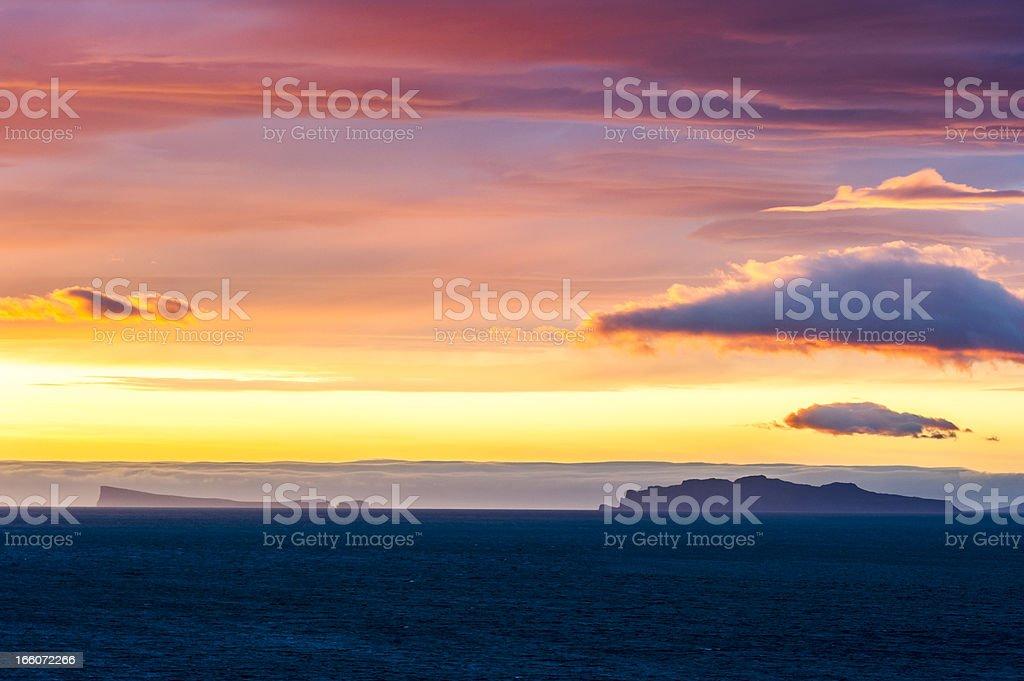 arctic midnight sun, iceland royalty-free stock photo