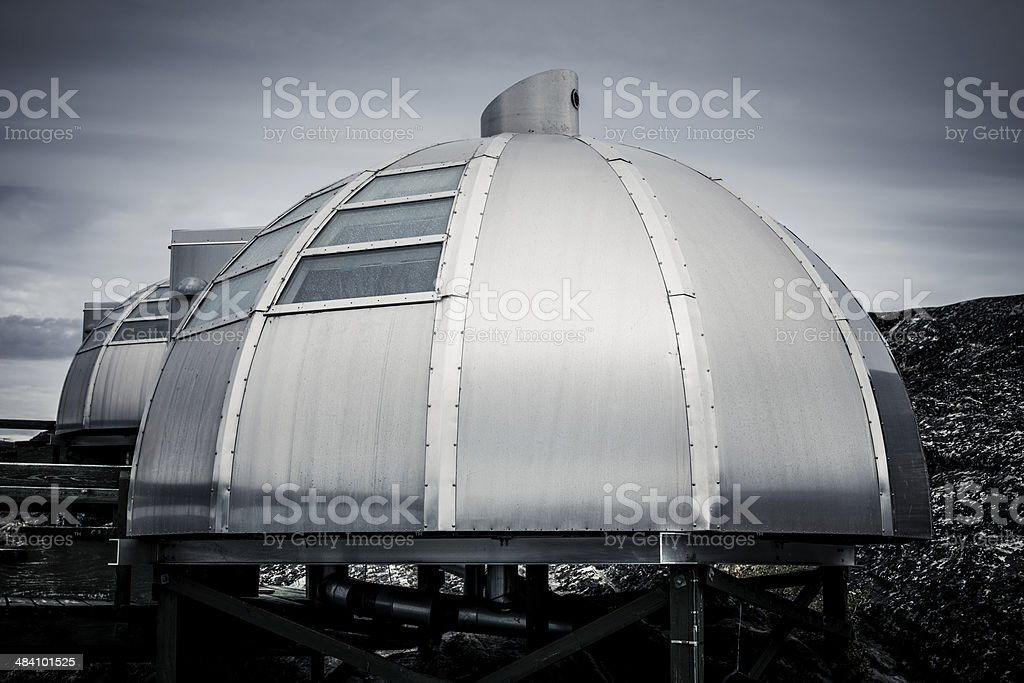 Arctic Modern Igloo West Greenland stock photo