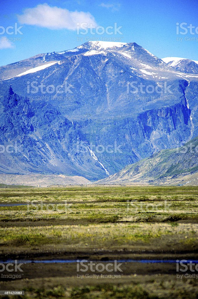 arctic mountain and valley canada stock photo