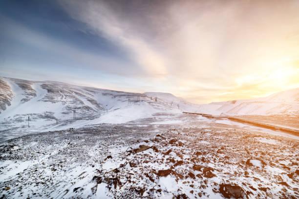 北極の山の風景 - ツンドラ ストックフォトと画像