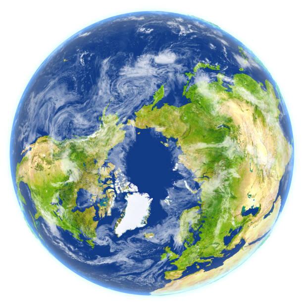 Océano Ártico en el planeta tierra - foto de stock