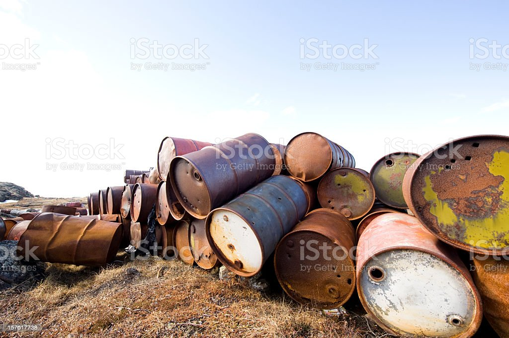 Arctic Oil Barrels. royalty-free stock photo